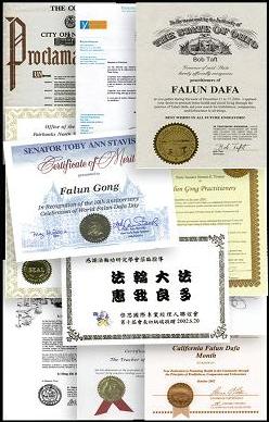 Награды Фалуньгун за рубежом